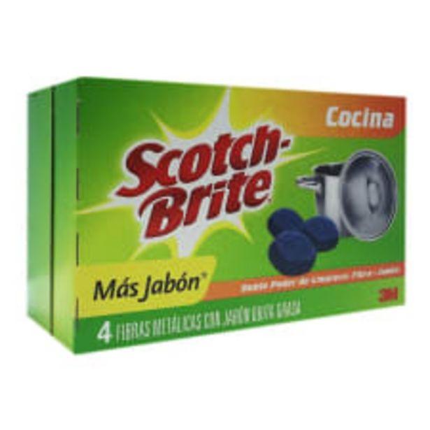 Oferta de Fibra Metálica 3M Scotch Brite con jabón por $20