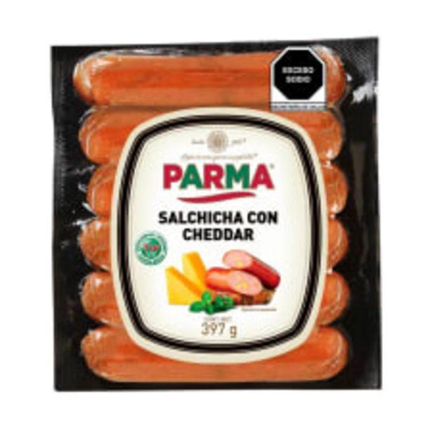 Oferta de Salchicha Parma con cheddar 397 g por $82.5