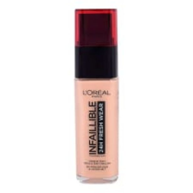 Oferta de Base de maquillaje L'Oréal Paris infallible 24h fresh wear 125 ivory rose 30 ml por $199
