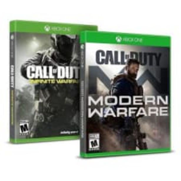 Oferta de 2 Pack Xbox One Call Of Duty Modern Warfare más Infinite Warfare por $996
