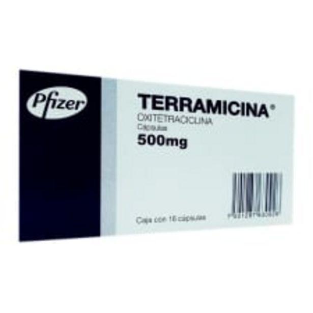 Oferta de Terramicina 500 mg 16 cápsulas por $216