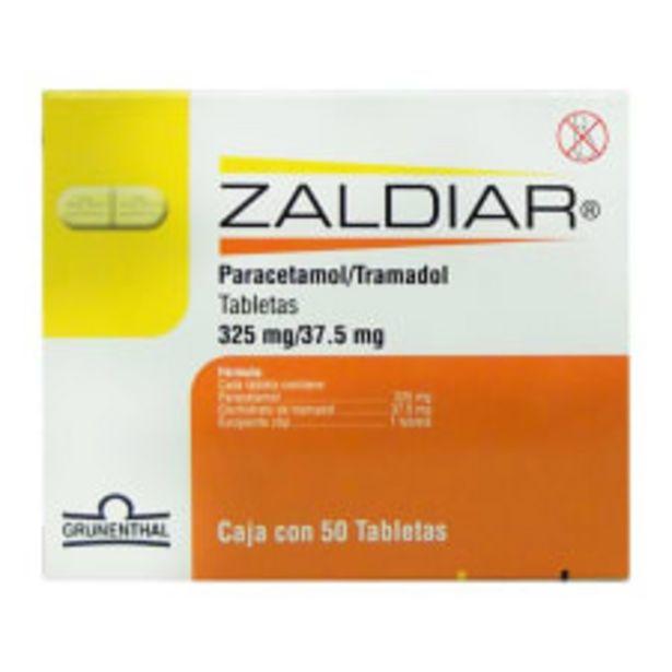 Oferta de Paracetamol / Tramadol Zaldiar 325 mg / 37.5 mg 50 tabletas por $830
