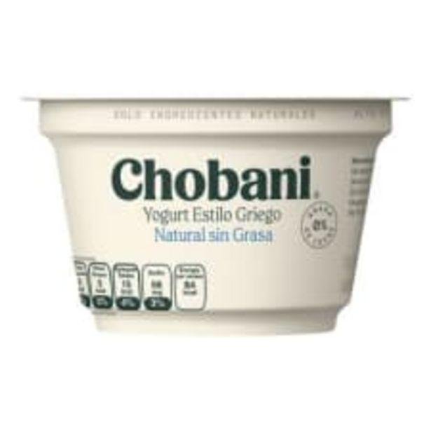 Oferta de Yogurt Chobani estilo griego natural sin grasa 150 g por $29.5