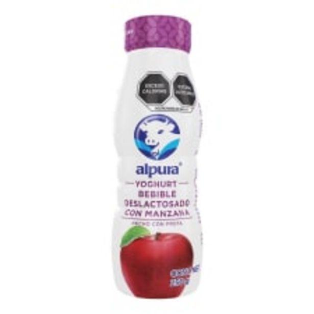 Oferta de Yoghurt bebible Alpura deslactosado con manzana 250 g por $9.1