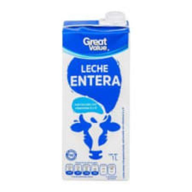 Oferta de Leche Great Value entera 1 l por $16.3