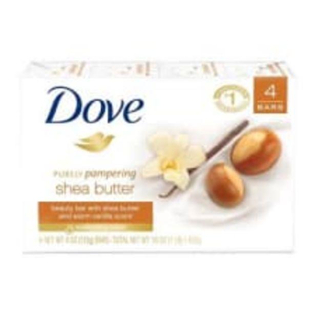 Oferta de Jabón de tocador Dove purely pampering shea butter 4 pzas de 100 g c/u por $45.1