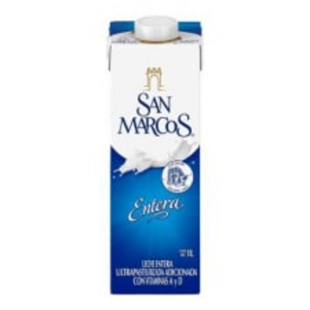 Oferta de Leche San Marcos entera ultrapasteurizada 1 l por $20.4