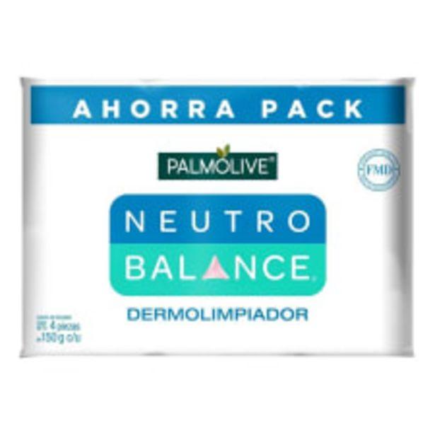 Oferta de Jabón de tocador Palmolive Neutro Balance dermolimpiador 4 pzas de 150 g c/u por $39