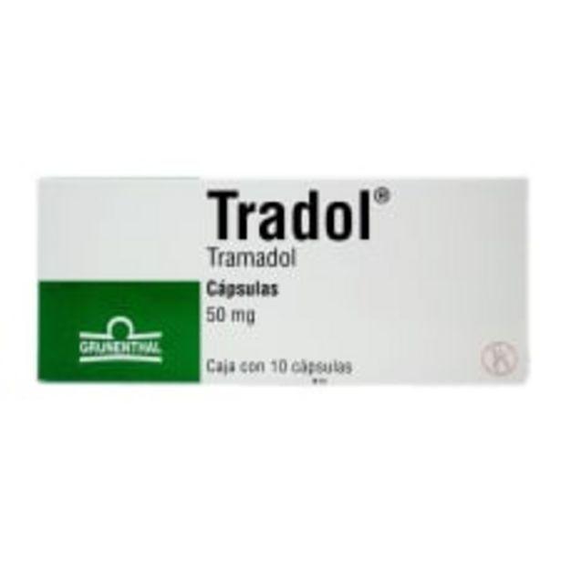 Oferta de Tradol cápsulas 10 pzas de 50 mg c/u por $364