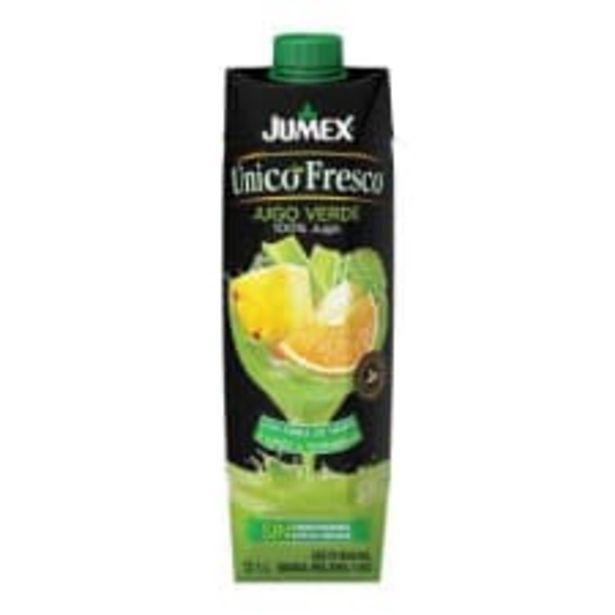 Oferta de Jugo Jumex Unico Fresco 100% jugo verde 1 l por $24