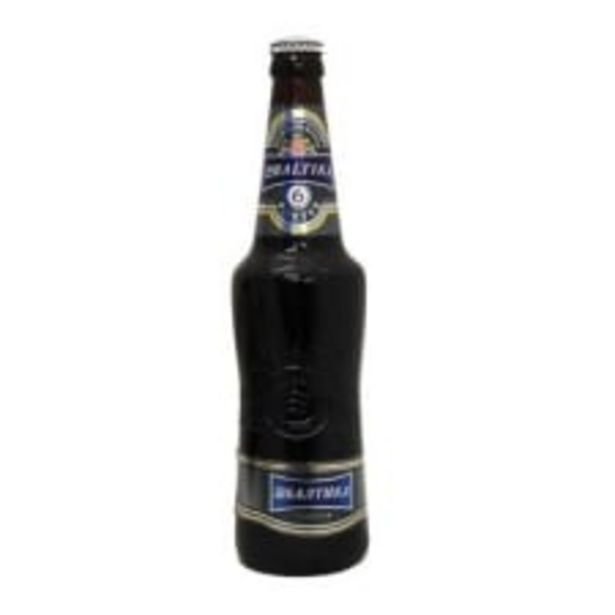 Oferta de Cerveza oscura Baltika 6 porter ale botella de 470 ml por $57.5