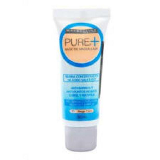 Oferta de Base de maquillaje Maybelline Pure beige claro 20 anti barros 30 ml por $170
