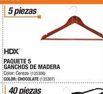 Oferta de Ganchos de madera HDX por