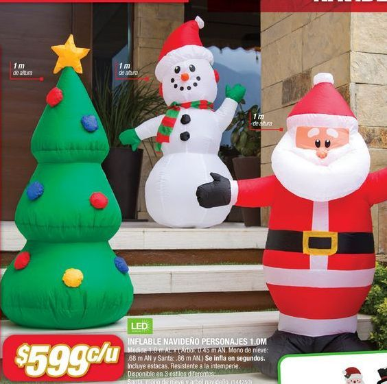 Oferta de Inflable Navideño Personajes por $599