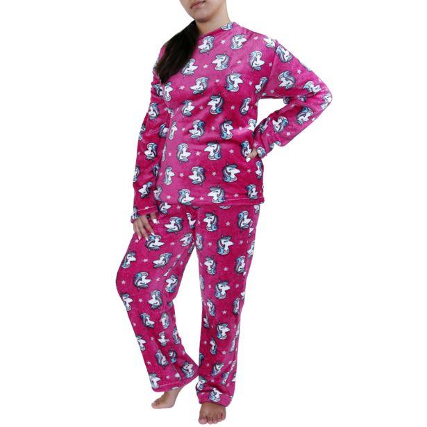 Oferta de Pijama para Dama Decorado Unicornio por $199.99