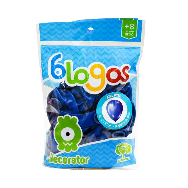 Oferta de Globos de látex Color Azul Royal No. 9 por $19.99