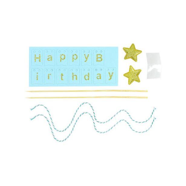 Oferta de Banner decorativo color Azul para Pastel de Cumpleaños por $24.99