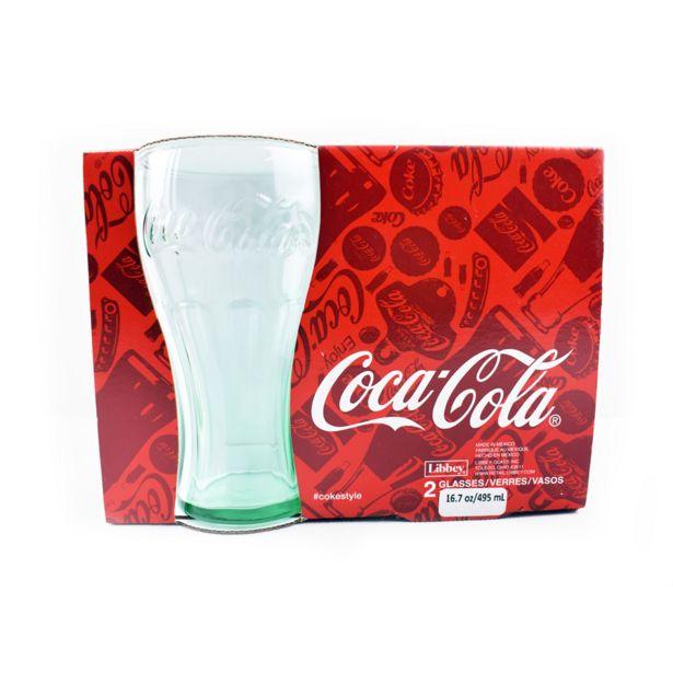 Oferta de Set de 2 Vasos Coca Cola 510ml Libbey por $39.99