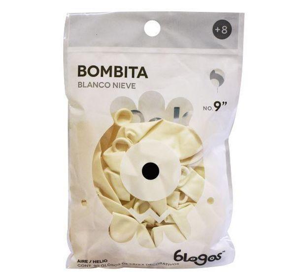 Oferta de Globo Color Blanco No. 9 por $19.99