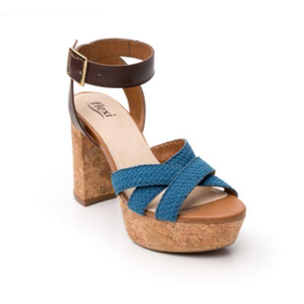 Oferta de Sandalia Urbana Flexi Con Plataforma Extra  Para Mujer - Estilo 103701 Azul por $539.4