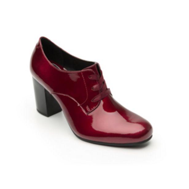 Oferta de Zapato De Tacón De Vestir Flexi De Charol Para Mujer - Estilo 37903 Vino por $439.5