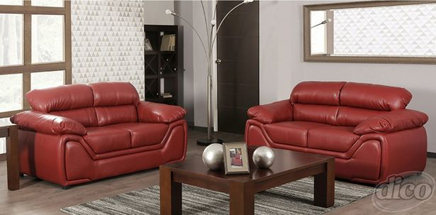 Oferta de Juego de 2 Love Seat Bari Rojo por $12638.4