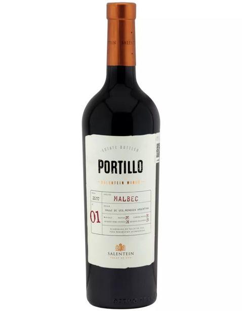 Oferta de Vino Tinto Portillo Malbec - 750 ml por $170.56