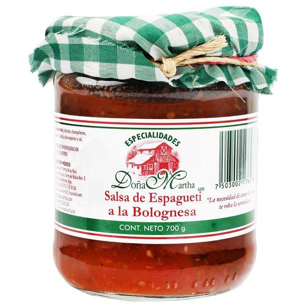 Oferta de Salsa Especialidades Doña Martha Espaguetti Bolognesa- 700 grs por $78.37