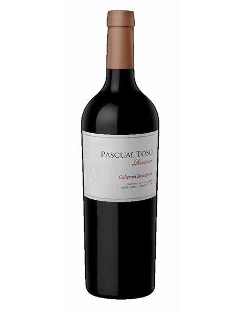 Oferta de Vino Tinto Pascual Toso Cabernet Sauvignon Reserva - 750 ml por $366.44