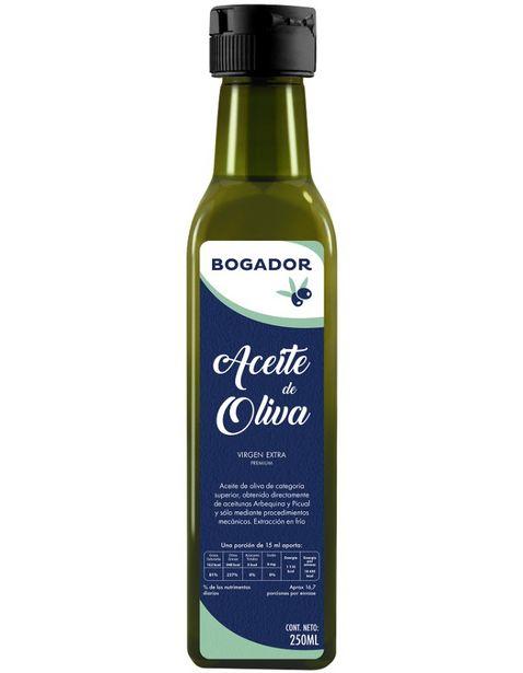 Oferta de Aceite de Oliva Extra Virgen Bogador - 250ml por $56.25