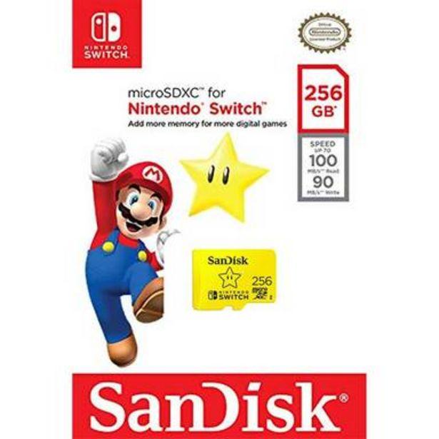 Oferta de MEMORIA SANDISK MICRO SDXC NINTENDO SWITCH 256GB por $1800