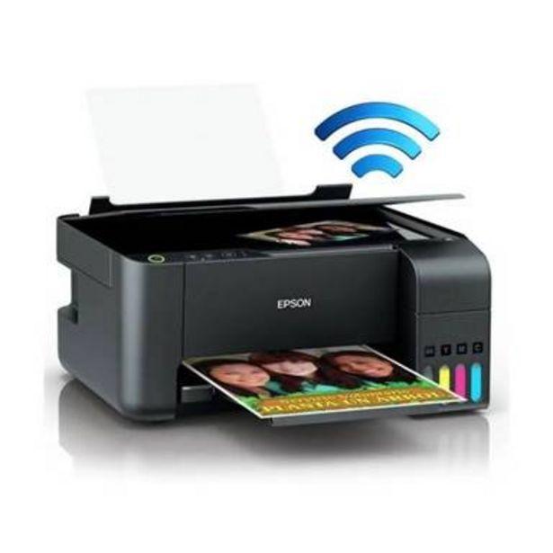 Oferta de Impresora a color multifunción Epson EcoTank L3150 con wifi 110V negra por $5145