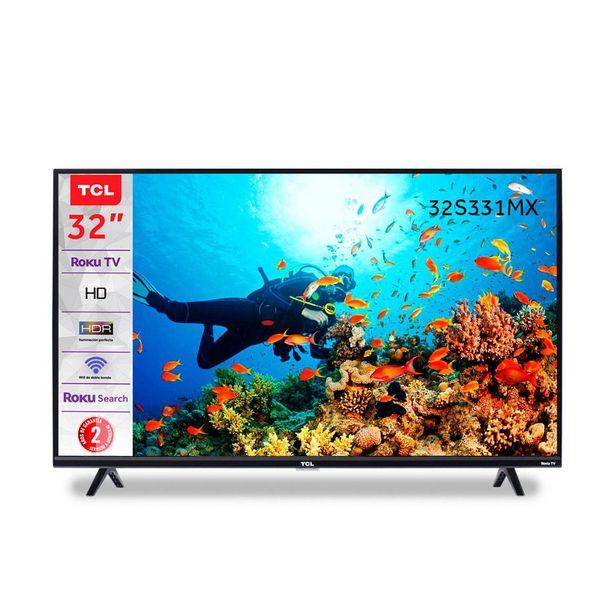 """Oferta de Pantalla  Tcl 32"""" Hd Smart Tv (Roku Tv) 32S331-Mx por $5095"""
