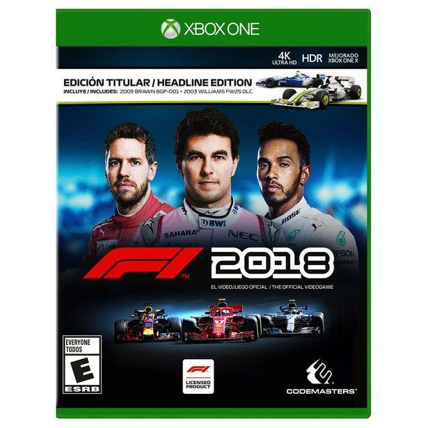 Oferta de Xbox One F1 2018 por $549