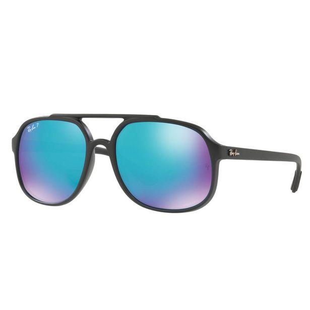 Oferta de Ray-Ban Gris Polarizado-Azul, Armazón Inyectado Negro por $3239