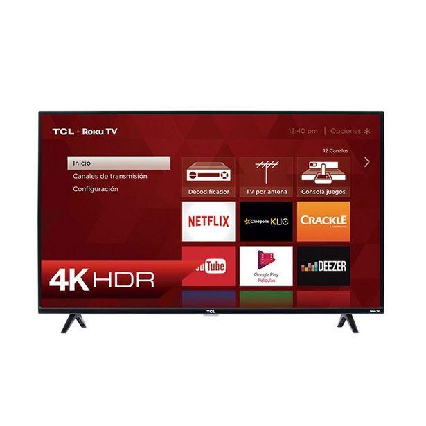 """Oferta de Pantalla Tcl 43"""" Smart Tv Roku Tv 4K Uhd 43S425-Mx por $7595"""