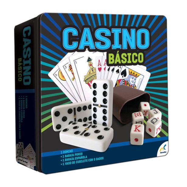 Oferta de Casino Básico Novelty Caja Metálica por $261