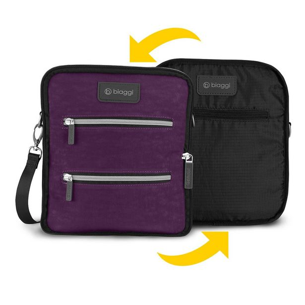 Oferta de Maletin Reversible Púrpura Biaggi por $350