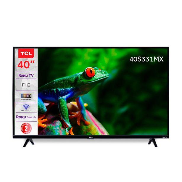 """Oferta de Pantalla Tcl 40"""" Fhd Smart Tv (Roku Tv) 40S331-Mx por $6995"""