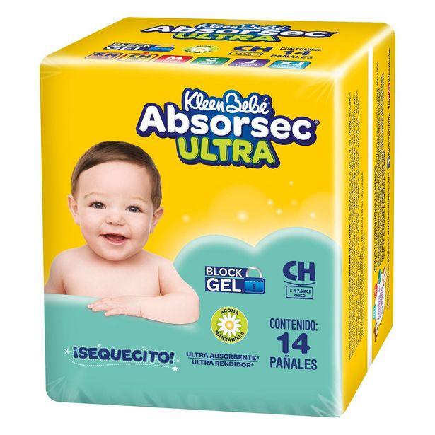 Oferta de Pañal Kbb Absorsec Ultra Ch C/14 por $48