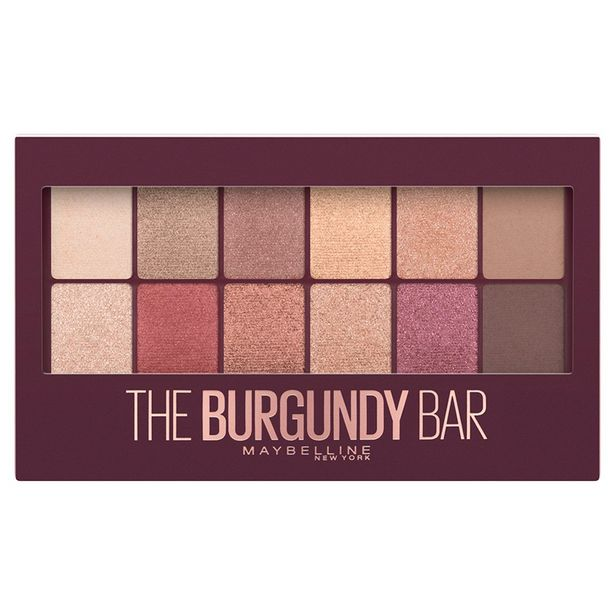 Oferta de Paleta De Sombras The Burgundy Bar Maybelline por $237