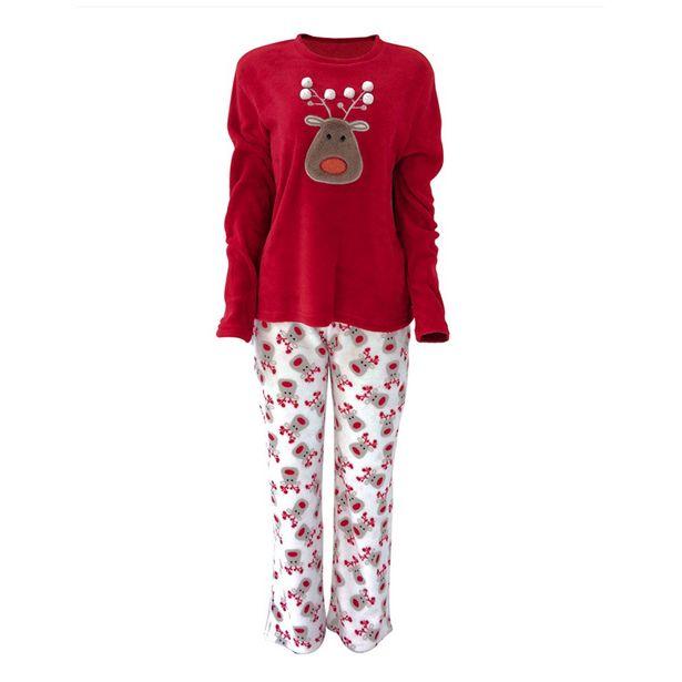 Oferta de Set Pijama Dama Reno Rojo M por $769
