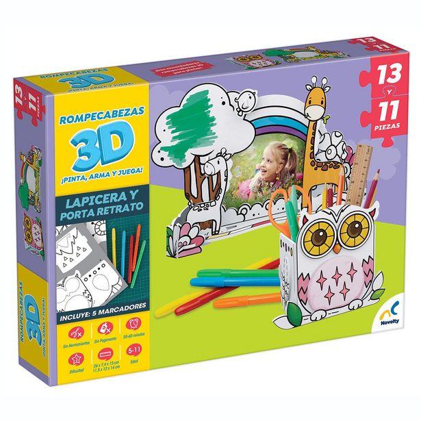 Oferta de Rompecabezas 3D Para Colorear Novelty por $132
