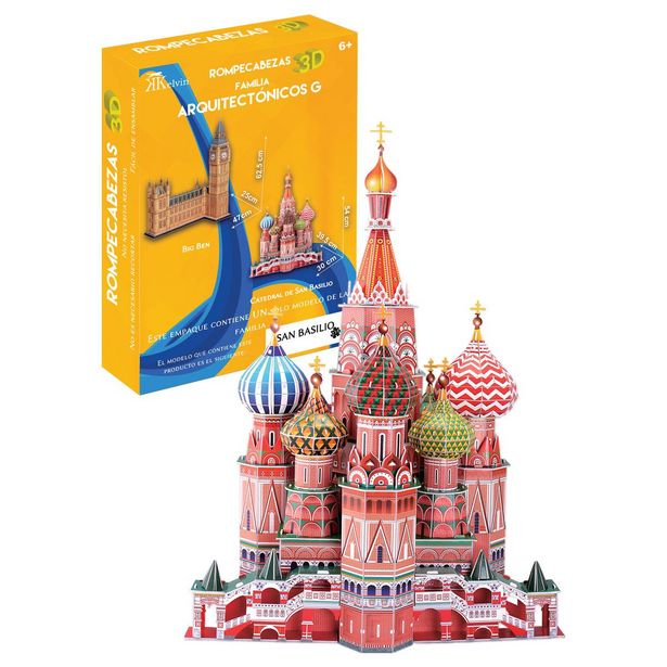 Oferta de Rompecabezas 3D Real San Basilio Kelvin por $449