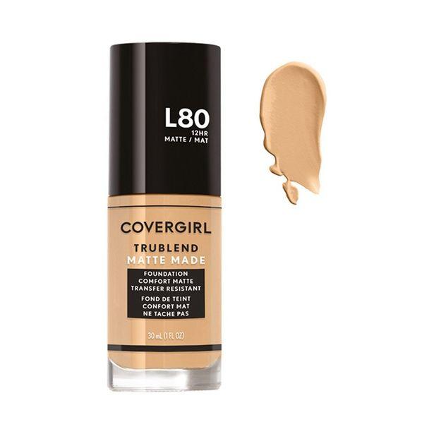 Oferta de Base De Maquillaje Líquida Covergirl Trublend Matte L80 True Ivory por $137