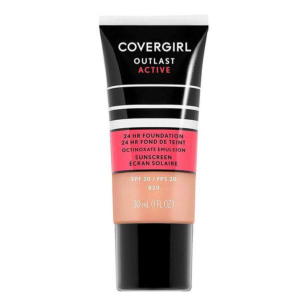 Oferta de Base De Maquillaje Líquida Covergirl Outlast Active 802 Golden Ivory por $137