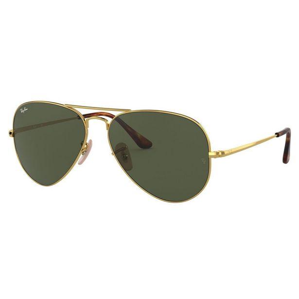 Oferta de Lente De Sol Ray-Ban En Metal Oro-Verde por $2301