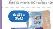 Oferta de Toallitas húmedas para bebé BBtips por $50
