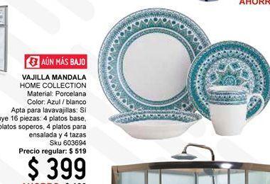 Oferta de Vajilla de porcelana Home Collection por $399