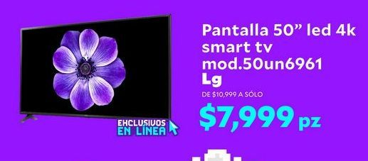 Oferta de Pantalla 50'' led 4k SMART TV mod.50un6991 LG  por $7999